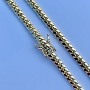 Other - Solid 14k Gold Miami Cuban Box Lock Chain 4mm